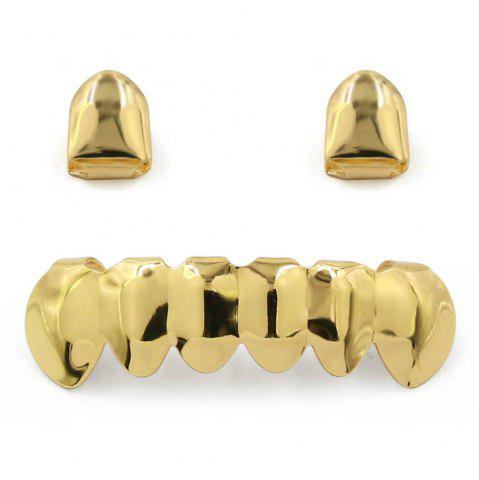 Discount Hip Hop 18K Gold Plated Teeth Grillz