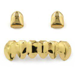 Dents Plaquées en Or 18K Hip Hop Grillz -