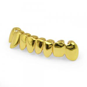 Hip Hop 18K Gold Plated Teeth Grillz Set -