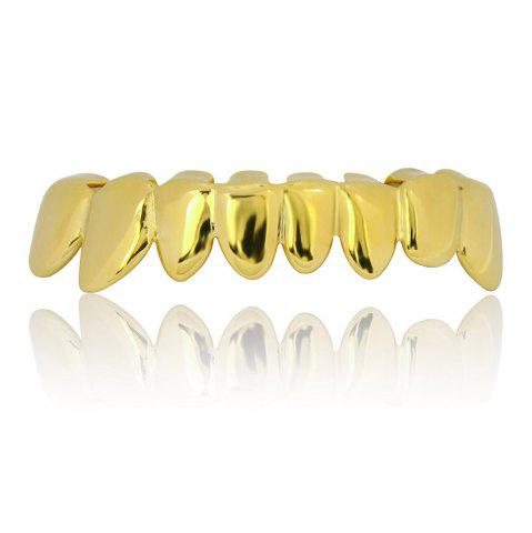Chic Hip Hop 18K Gold Plated Teeth Grillz Set