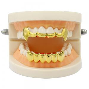 Dents de Vampire Dents Grillz Couleur d'or 18K -
