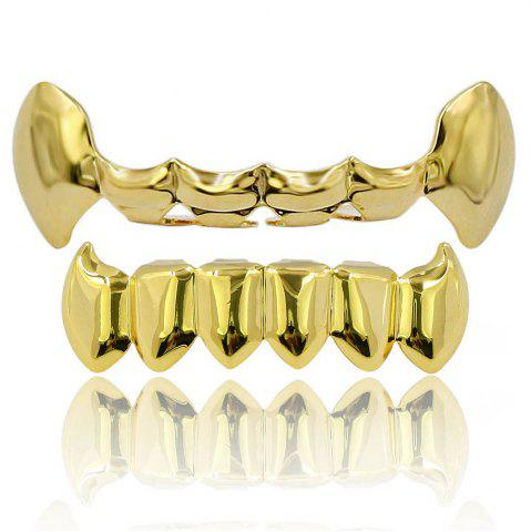 Dents de Vampire Dents Grillz Couleur d'or 18K