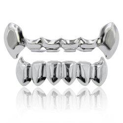 Hip Hop 18K Gold Color Vampire Fangs Teeth Grillz -
