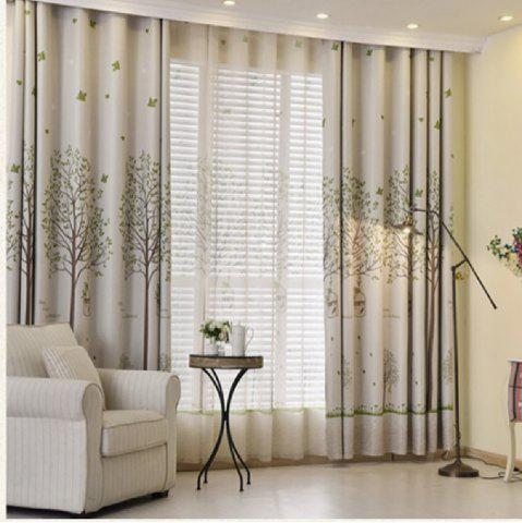Sale Shaded Cloth Curtains With Bird Cages