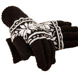 Men's warm gloves and outdoor cycling with five finger knitted full - Finger Gloves -