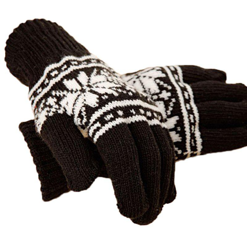 Outfits Men's warm gloves and outdoor cycling with five finger knitted full - Finger Gloves