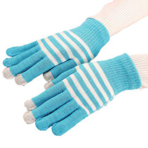 Chic Lovers' Touch Screen Glove for Men and Women in Winter, Knitting Wool and Warm Korean Edition, Students Riding Five Fing