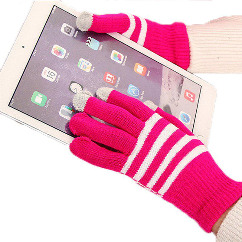 Shop Lovers' Touch Screen Glove for Men and Women in Winter, Knitting Wool and Warm Korean Edition, Students Riding Five Fing