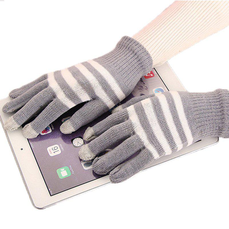 Online Lovers' Touch Screen Glove for Men and Women in Winter, Knitting Wool and Warm Korean Edition, Students Riding Five Fing