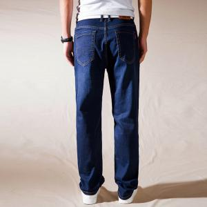 Straight Fit Denim Pants Pantalons taille plus Casual Cowboys Man Jeans -