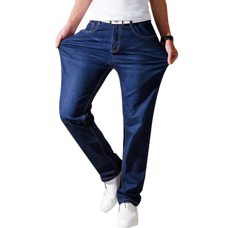 Online Straight Fit  Stretch Denim Pants Plus size Trousers  Casual Cowboys Man Jeans