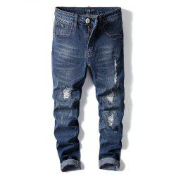Straight Fit  Stretch Denim Pants Large size Trousers  Casusal Cowboys Man Jeans -