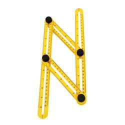 Measuring Instrument Angle-izer Template Tool Four-Sided Ruler Mechanism Slide (Color: Yellow) -