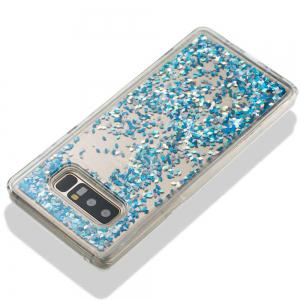 Silver Blue Diamond Liquid TPU Sand Case for Samsung Galaxy Note 8 -