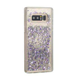 Silver Sand Purple Five-Pointed Star Liquid TPU Sand Case for Samsung Galaxy Note 8 -