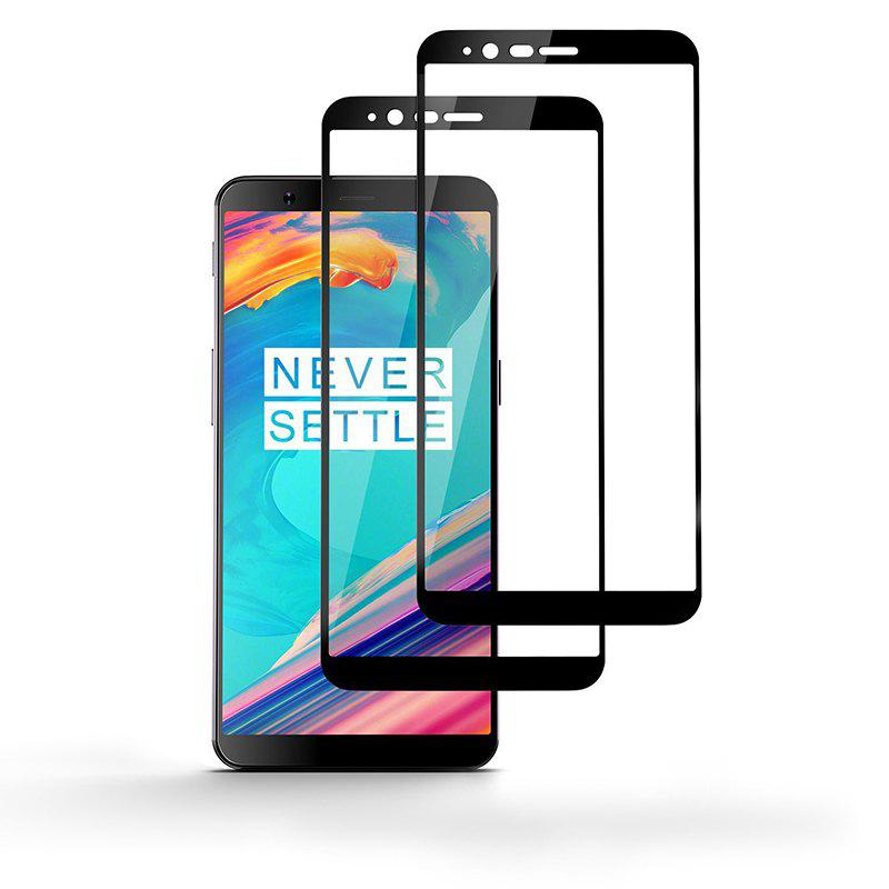New 2PACK Full Coverage Curved Tempered Glass Screen Protector Film for OnePlus 5T