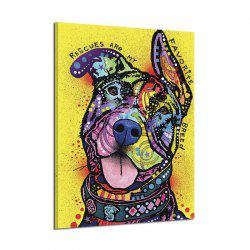 Abstract Frameless Art Canvas Print of Dog for Home Wall Decoration -