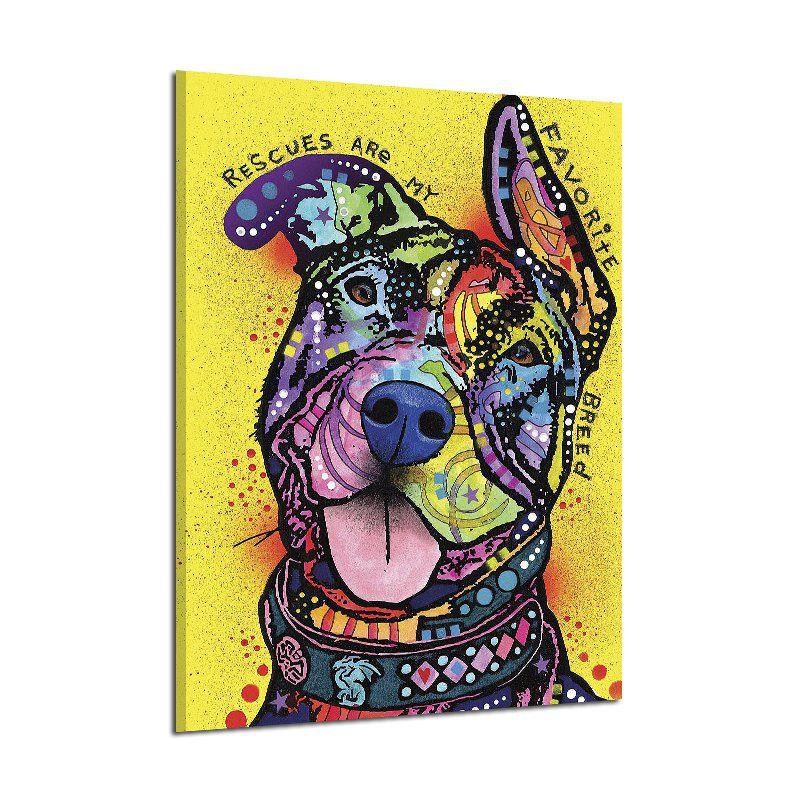 Chic Abstract Frameless Art Canvas Print of Dog for Home Wall Decoration