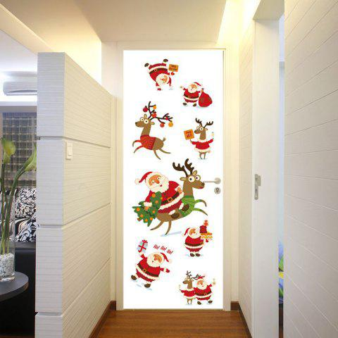 Color 77 x 200cm dsu 3d porte couloir couloir santa claus d coration sticker mural tanche - Sticker couloir ...