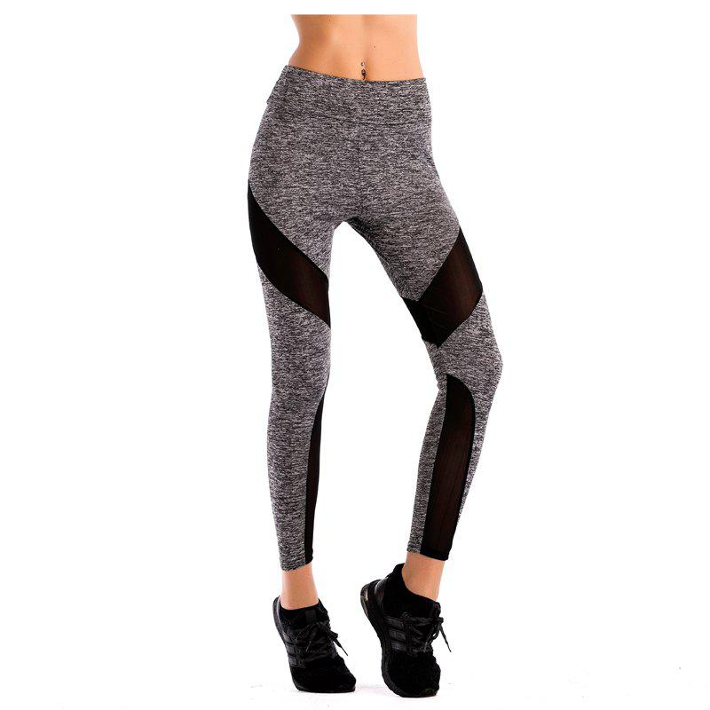 Latest women's sport mesh splicing underpant