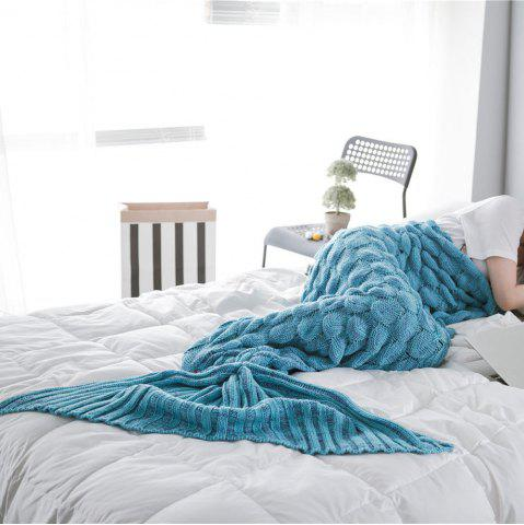 Fancy New Products Knitted Fish Scales Design Mermaid Tail Knitted Blankets