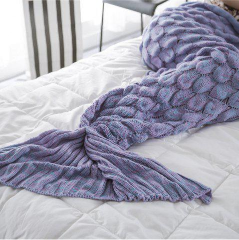 Latest New Products Knitted Fish Scales Design Mermaid Tail Knitted Blankets
