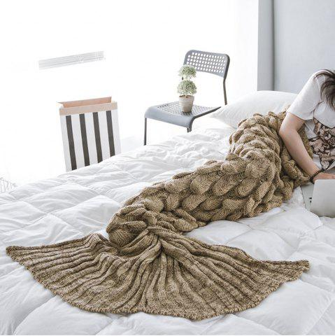 Chic New Products Knitted Fish Scales Design Mermaid Tail Knitted Blankets