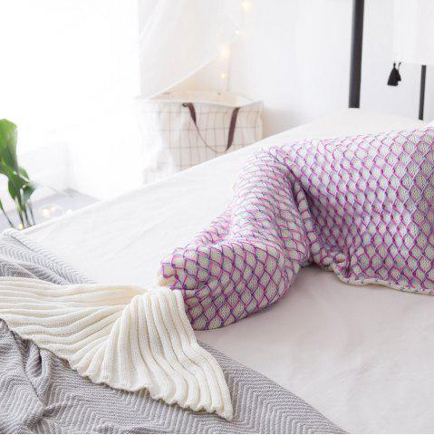 Affordable New Product Knitted Multicolored Fish Scales Design Mermaid Tail Blanket