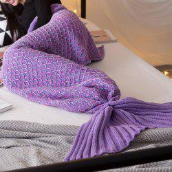 New Product Knitted Multicolored Fish Scales Design Mermaid Tail Blanket -