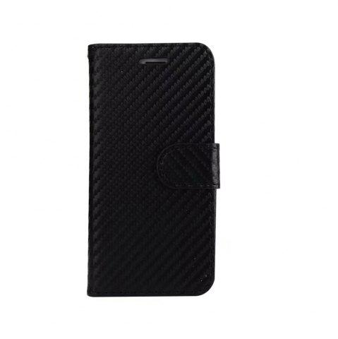Outfit Carbon Fiber Pattern Flip PU Leather Wallet Case for iPhone 8 Plus