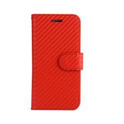 Carbon Fiber Pattern Flip PU Leather Wallet Case for iPhone 8 Plus -