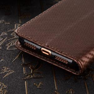 Carbon Fiber Pattern Flip PU Leather Wallet Case for iPhone X -