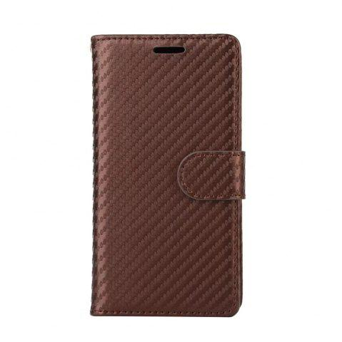 Buy Carbon Fiber Pattern Flip PU Leather Wallet Case for iPhone X