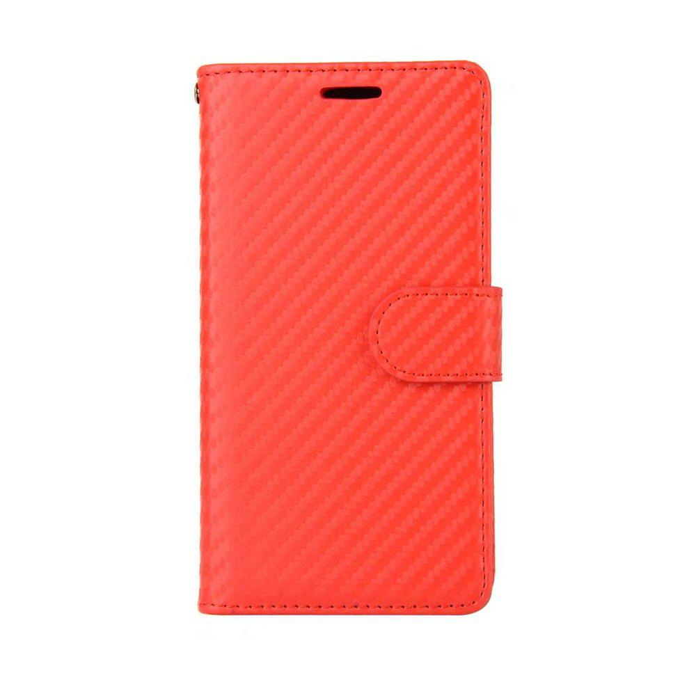 Affordable Carbon Fiber Pattern Flip PU Leather Wallet Case for iPhone X