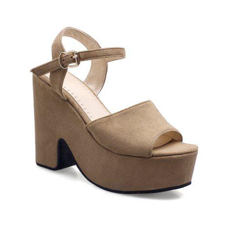 Discount New Lightweight Thick Bottom Suede Sandals