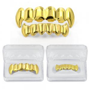 Hip Hop 18K Couleur Plaqué Or Crocs Dents Grillz -