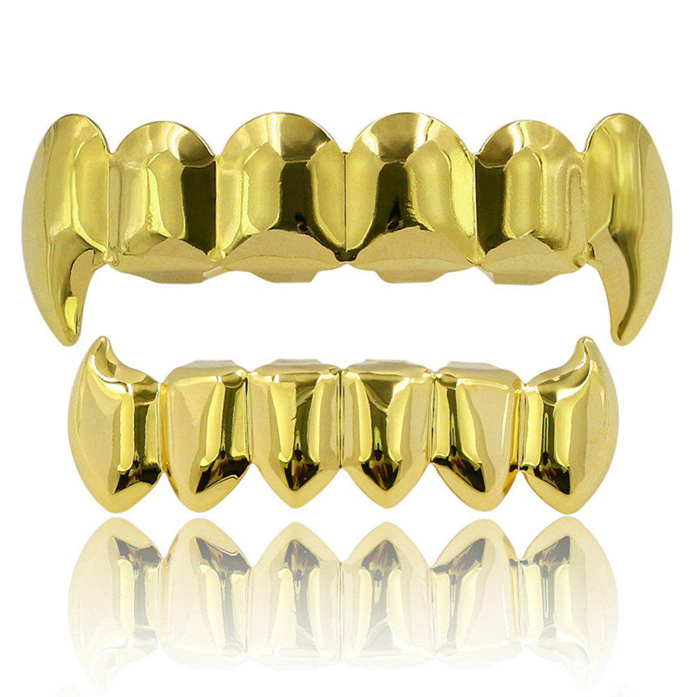Outfits Hip Hop 18K Gold Color Plated Fangs Teeth Grillz