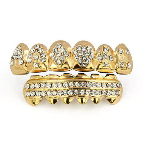 Shop Hip Hop 18K Gold Plated Square A Teeth Grillz