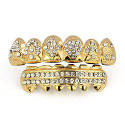 Hip Hop 18K Gold Plated Square A Teeth Grillz -