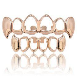 Hip Hop 18K Gold Plated Hollow Vampire Fangs Teeth Grillz -