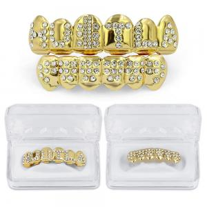 Hip Hop 18K Gold Plated English Letter Teeth Grillz -