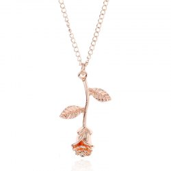 Contracted New Rose Pendant Chain Necklace -