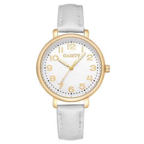 Hot GAIETY  G144 Ladies Fashion Arabic Numbers Leather Wrist Watch