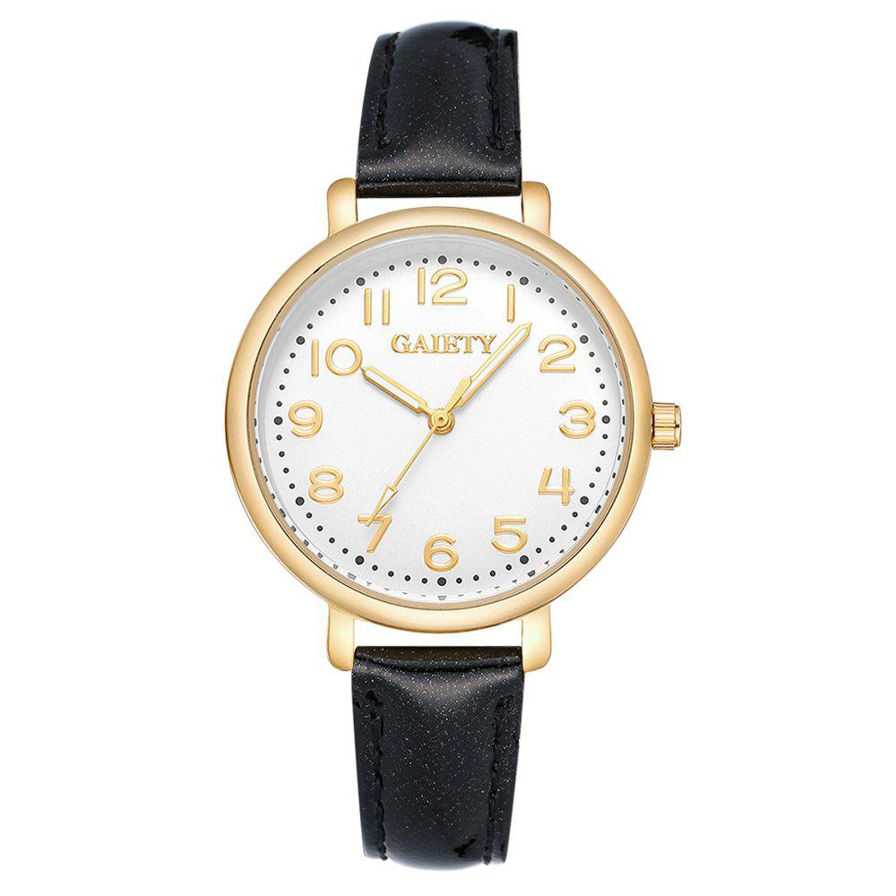 Latest GAIETY  G144 Ladies Fashion Arabic Numbers Leather Wrist Watch