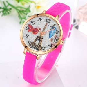 GAIETY G292 Women Tower Jelly Color Silicone Sports Wrist Watch -