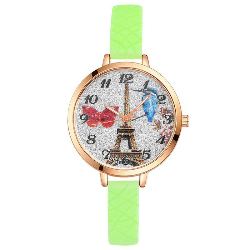 Discount GAIETY G292 Women Tower Jelly Color Silicone Sports Wrist Watch