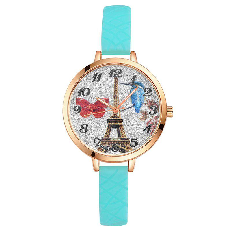 Sale GAIETY G292 Women Tower Jelly Color Silicone Sports Wrist Watch
