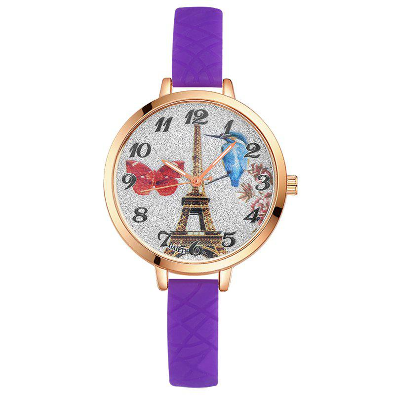 Chic GAIETY G292 Women Tower Jelly Color Silicone Sports Wrist Watch