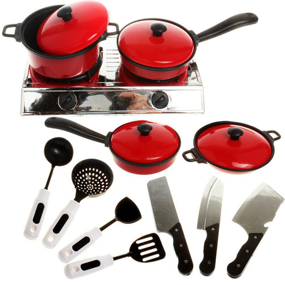 Hot Play House Children'S Kitchen Simulation Tableware 13PCS Kitchen Tableware Toys Children'S Early Learning Cookware Toys