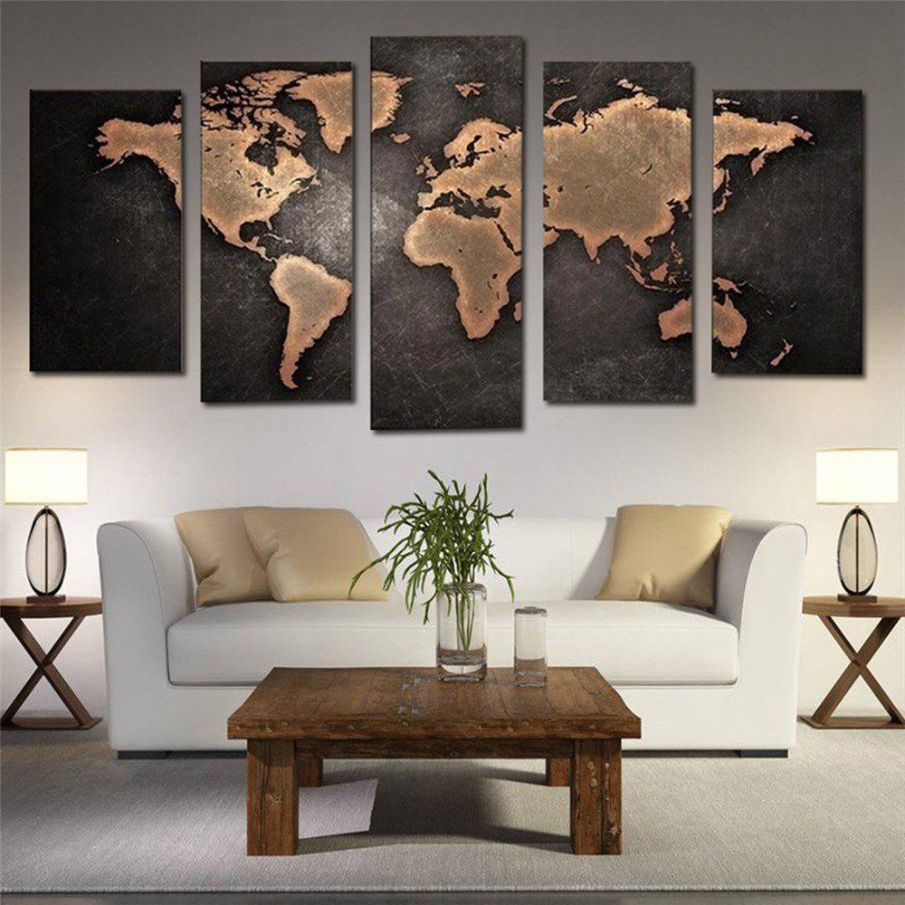 Shops World Map Living Room Decorate Brush Paint